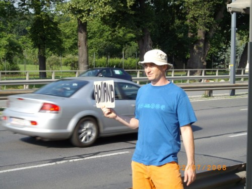 Not the right way to hitchhike