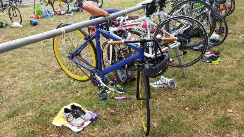 Its not about your gear, its about how you use it... a fixie can be a triathlon bike too