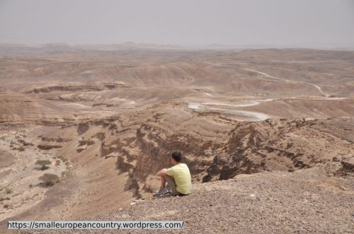 Just to give you an idea of the highlights - this is the Negev desert. Just two hours drive from Tel Aviv, and you're not on the edge of it - no, right in the middle!